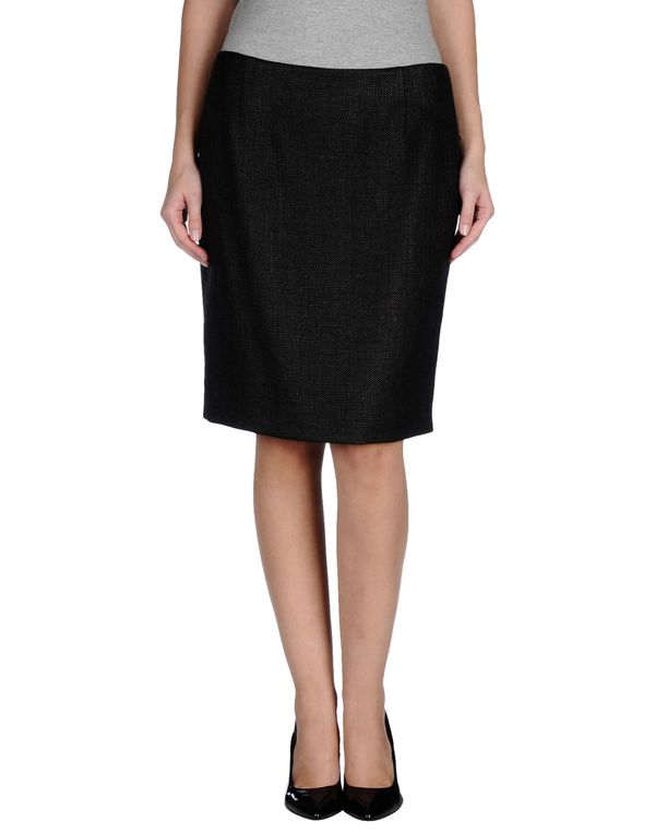 黑色 MOSCHINO CHEAPANDCHIC 及膝半裙