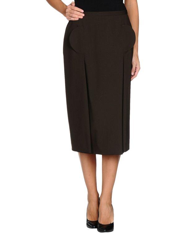深棕色 GIVENCHY 半长裙