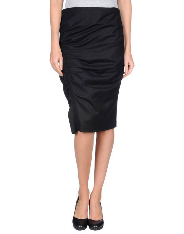 黑色 GUNEX 及膝半裙