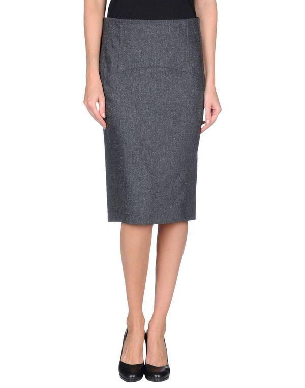 铅灰色 GUNEX 及膝半裙