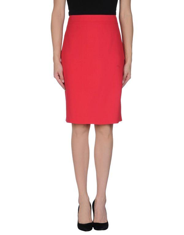 珊瑚红 ARMANI COLLEZIONI 及膝半裙