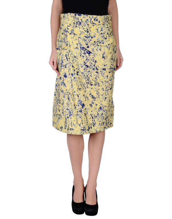 黄色 JIL SANDER 及膝半裙