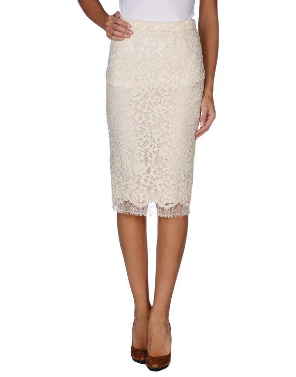 象牙白 DOLCE & GABBANA 及膝半裙
