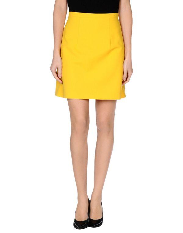 黄色 CHRISTOPHER KANE 及膝半裙