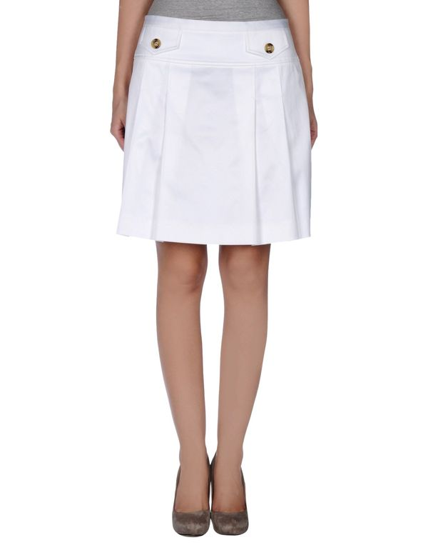 白色 REDVALENTINO 及膝半裙