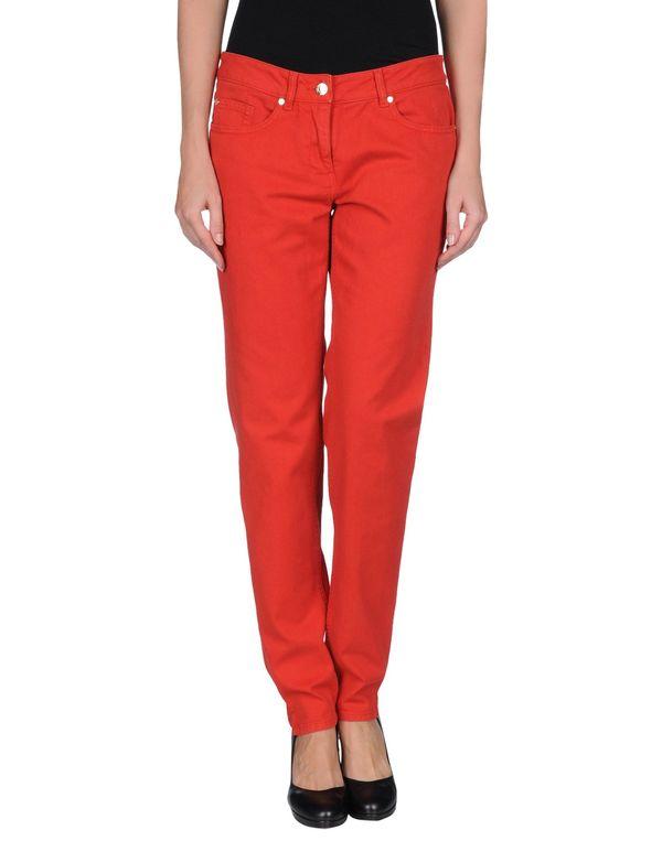 红色 YVES SAINT LAURENT 牛仔裤