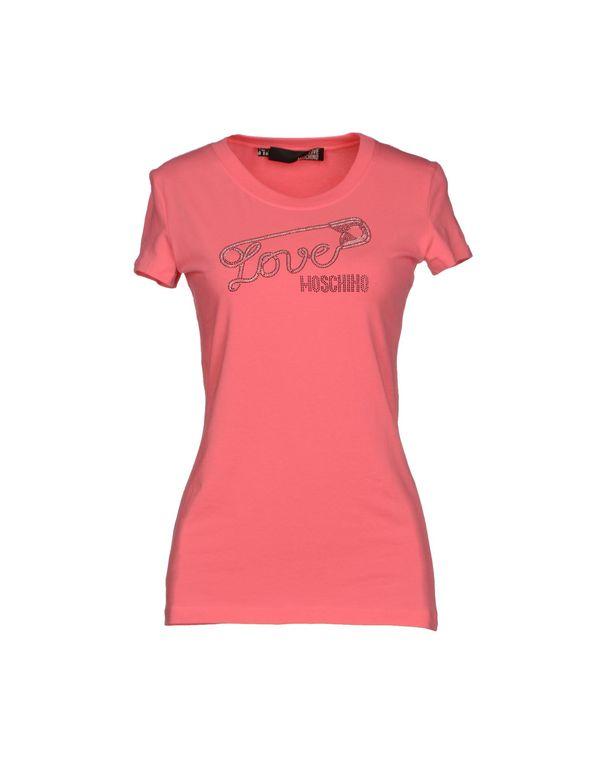 浅紫色 LOVE MOSCHINO T-shirt
