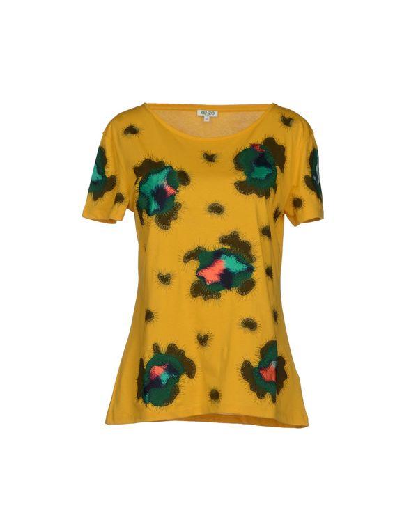 黄色 KENZO T-shirt