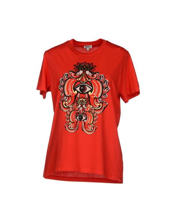 红色 KENZO T-shirt