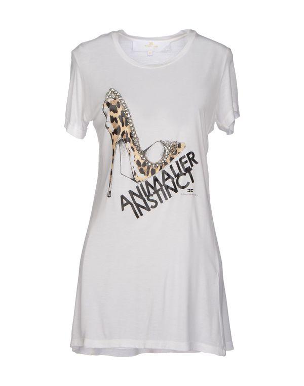 白色 ELISABETTA FRANCHI GOLD T-shirt