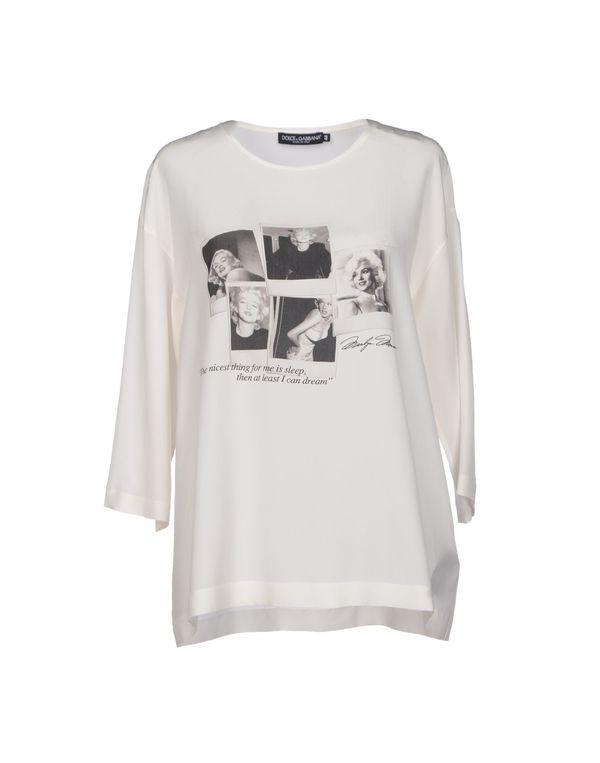 象牙白 DOLCE & GABBANA 女士衬衫