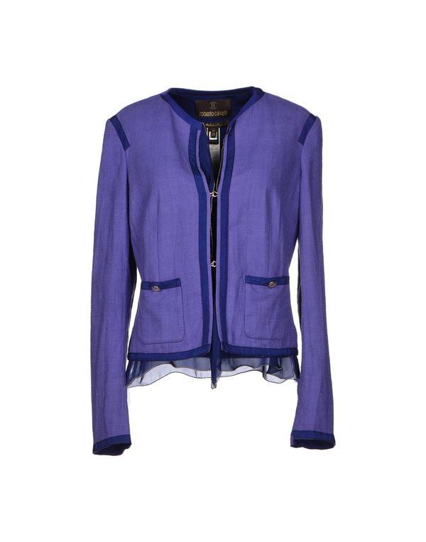 紫色 ROBERTO CAVALLI 西装上衣