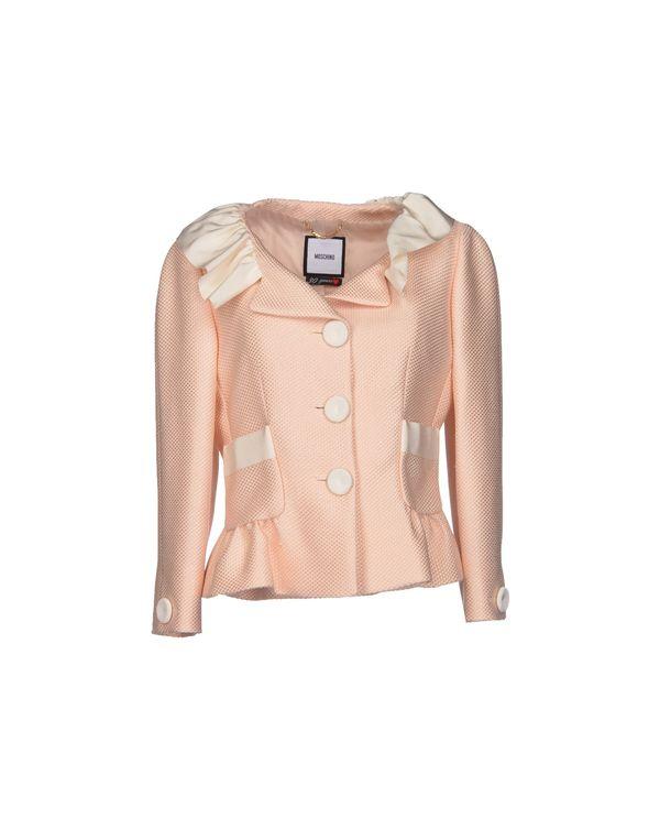 浅粉色 MOSCHINO 西装上衣