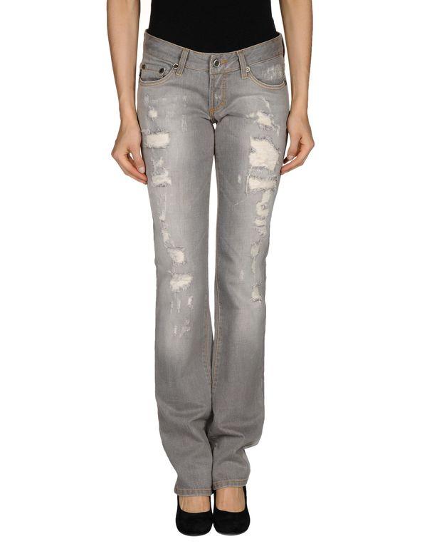 灰色 JUST CAVALLI 牛仔裤