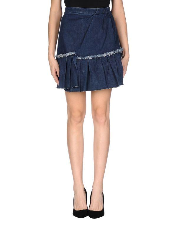 蓝色 REDVALENTINO 牛仔半裙