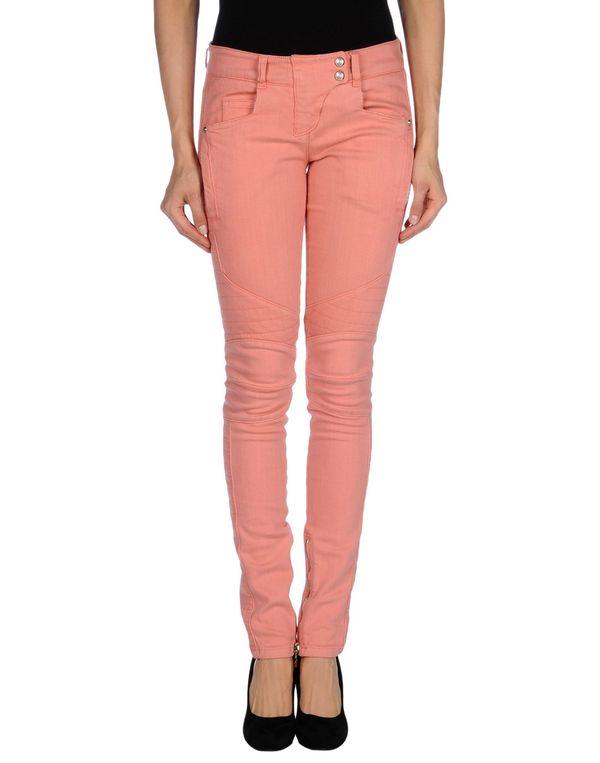 粉红色 BALMAIN 牛仔裤