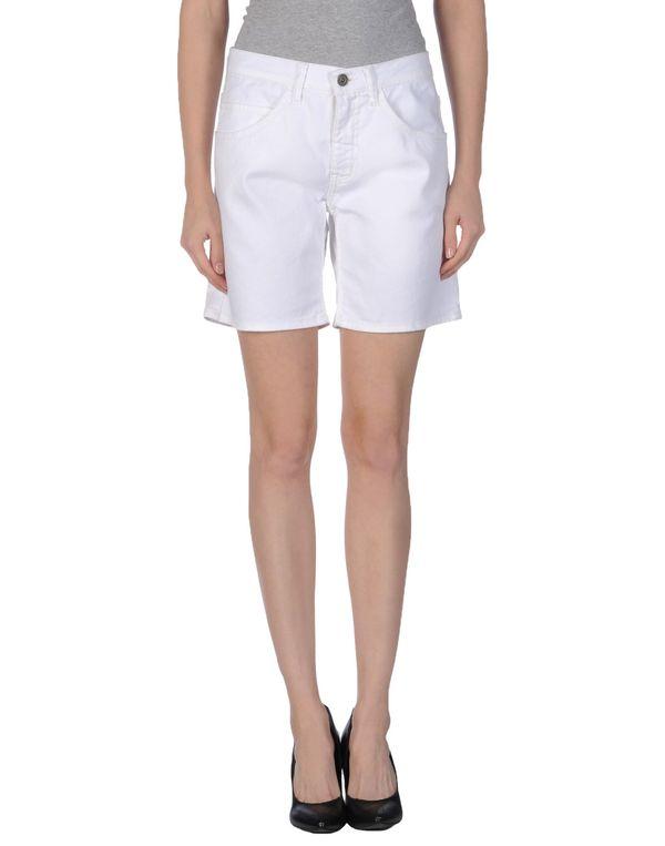 白色 VINTAGE 55 百慕大牛仔短裤