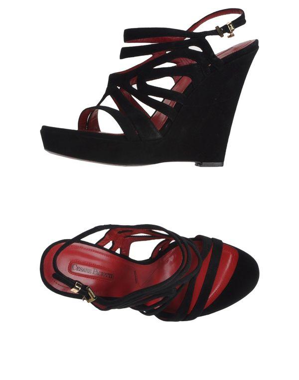 黑色 CESARE PACIOTTI 凉鞋