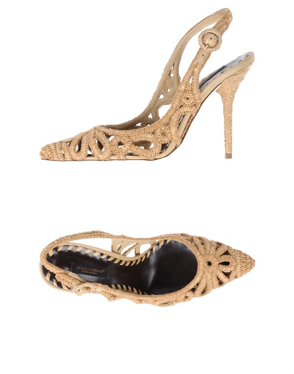 沙色 DOLCE & GABBANA 高跟鞋