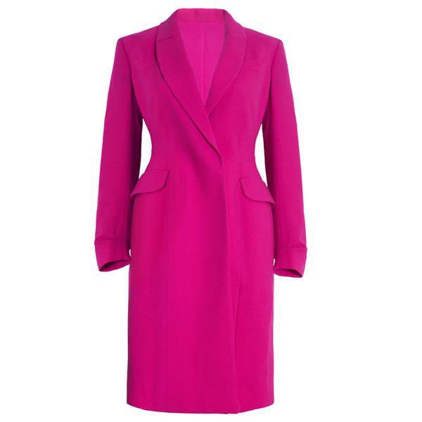 Dior桃红色优雅大衣