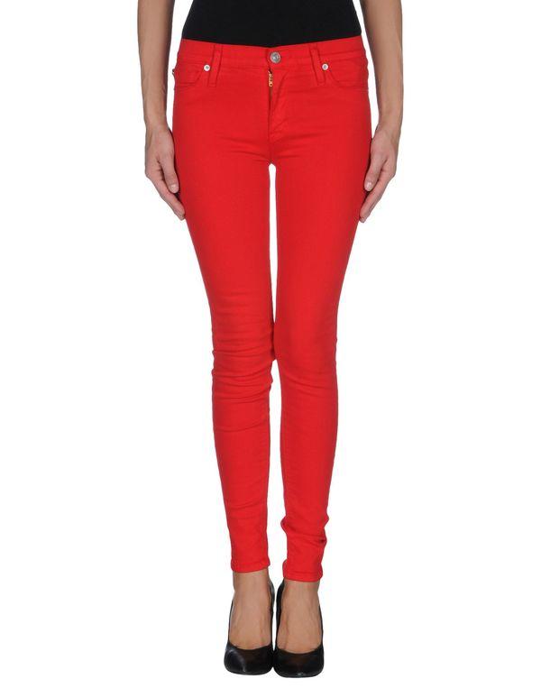 红色 HUDSON 牛仔裤