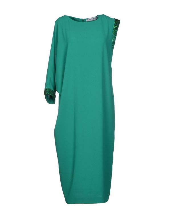 绿色 FRANKIE MORELLO 及膝连衣裙