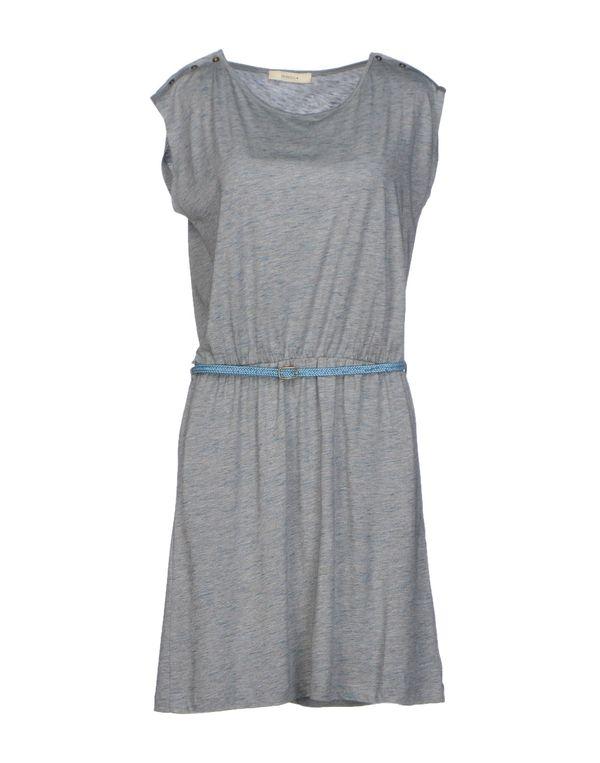 淡灰色 SESSUN 及膝连衣裙