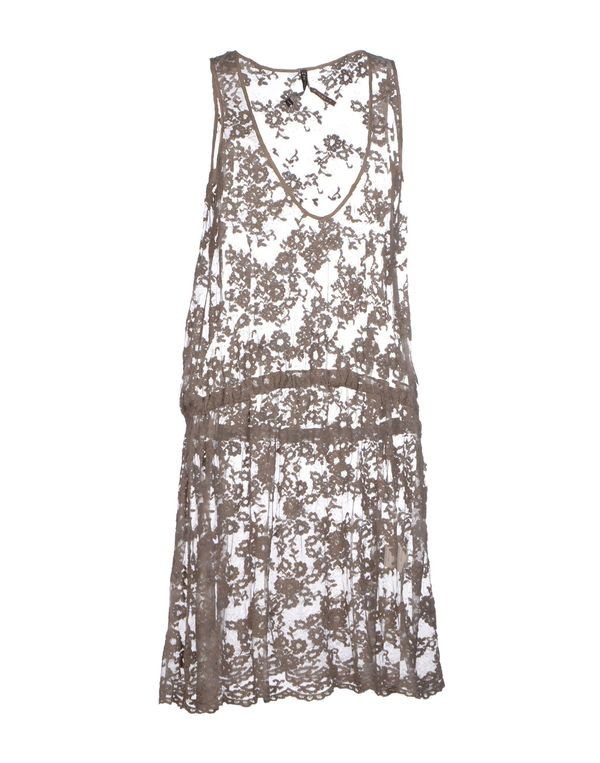 鸽灰色 MANILA GRACE 短款连衣裙