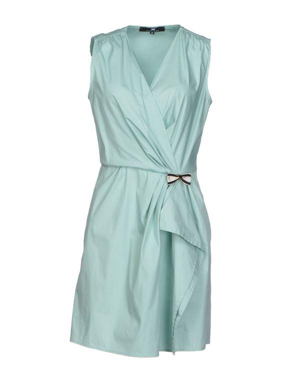 浅绿色 ELISABETTA FRANCHI 24 ORE 短款连衣裙