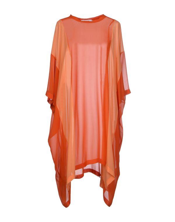 橙色 MARIOS 短款连衣裙