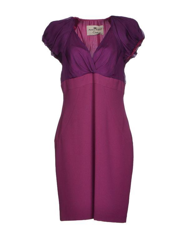 紫红 ADELE FADO QUEEN 及膝连衣裙