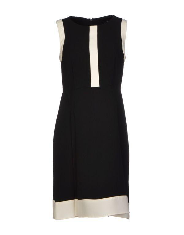 黑色 TARA JARMON 短款连衣裙