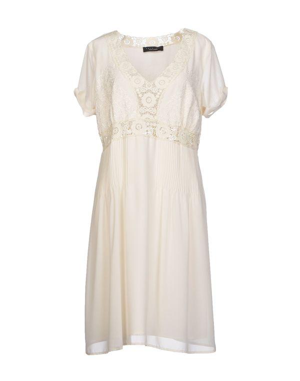 白色 TWIN-SET SIMONA BARBIERI 短款连衣裙