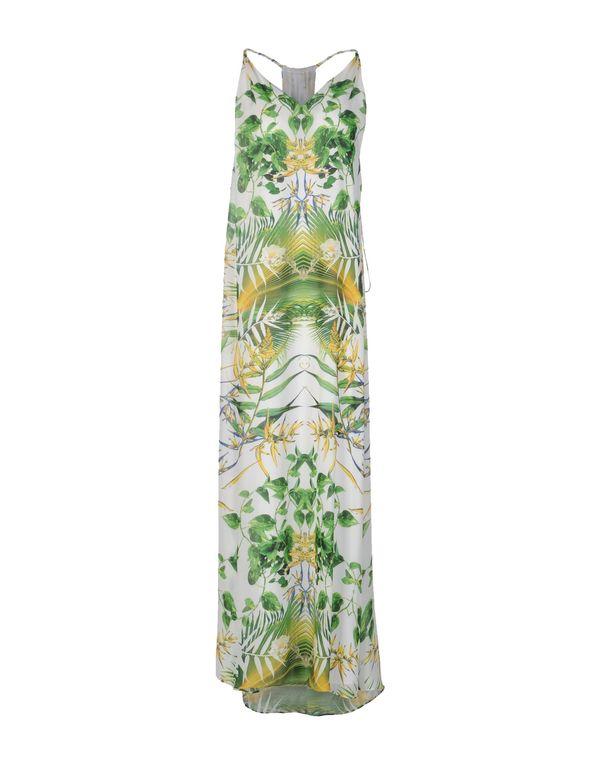 荧光绿 ALICE+OLIVIA 长款连衣裙