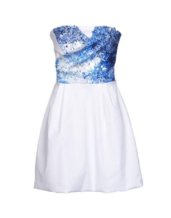 白色 ANNARITA N. 短款连衣裙
