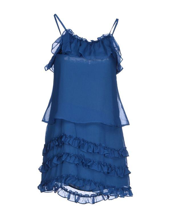 蓝色 POEMS 短款连衣裙