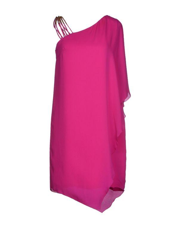 紫色 HALSTON HERITAGE 短款连衣裙