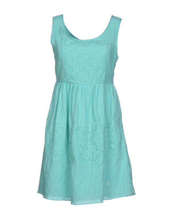 蓝绿色 DUCK FARM 短款连衣裙