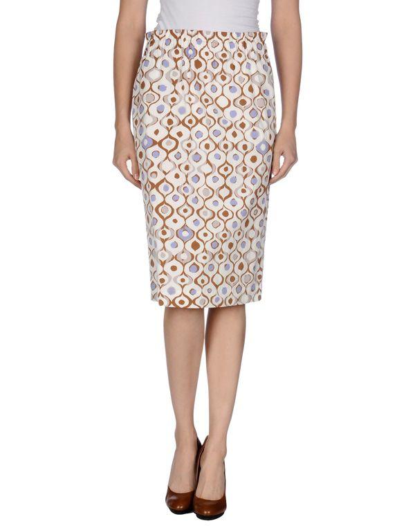 象牙白 MANILA GRACE 及膝半裙