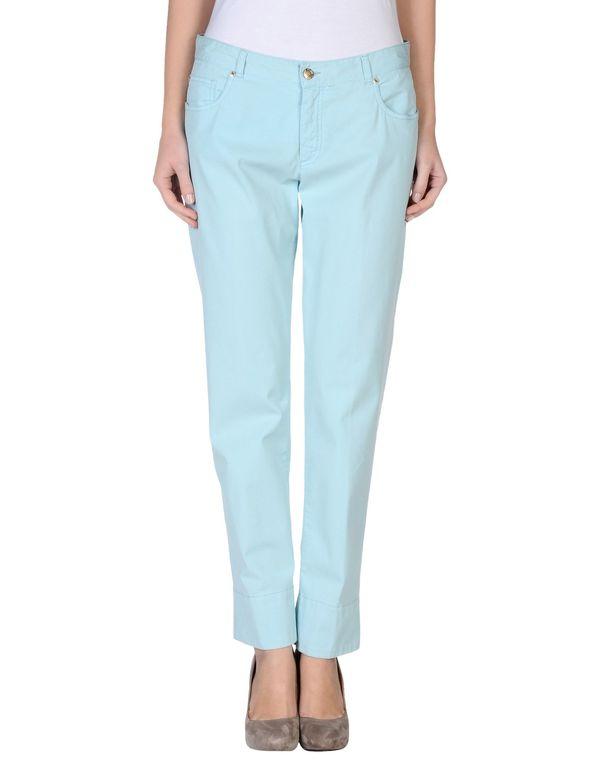 蓝绿色 LES COPAINS 裤装
