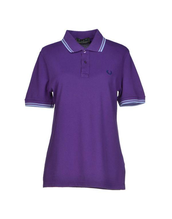 紫色 FRED PERRY Polo衫