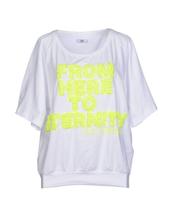 白色 ICE ICEBERG T-shirt