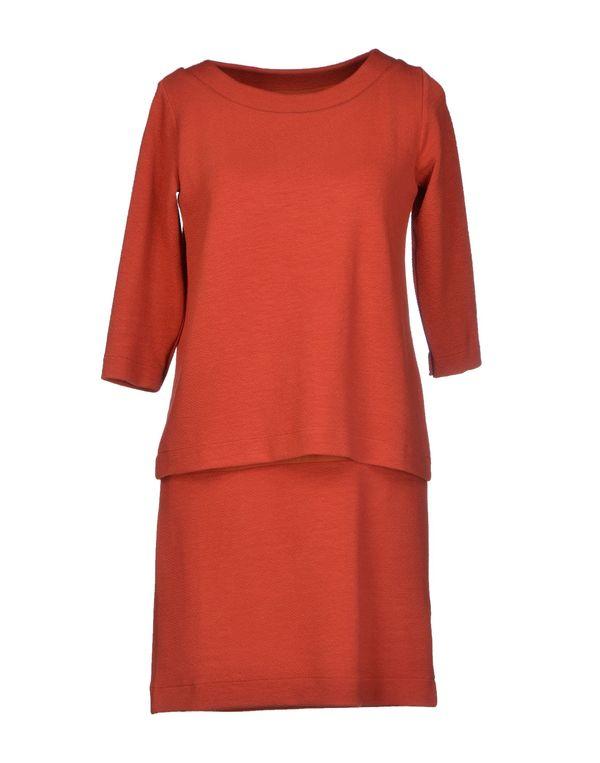 铁锈红 GANNI 短款连衣裙