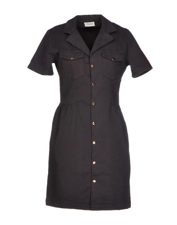青灰色 GANNI 短款连衣裙
