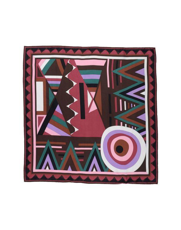 深棕色 EMILIO PUCCI 方巾
