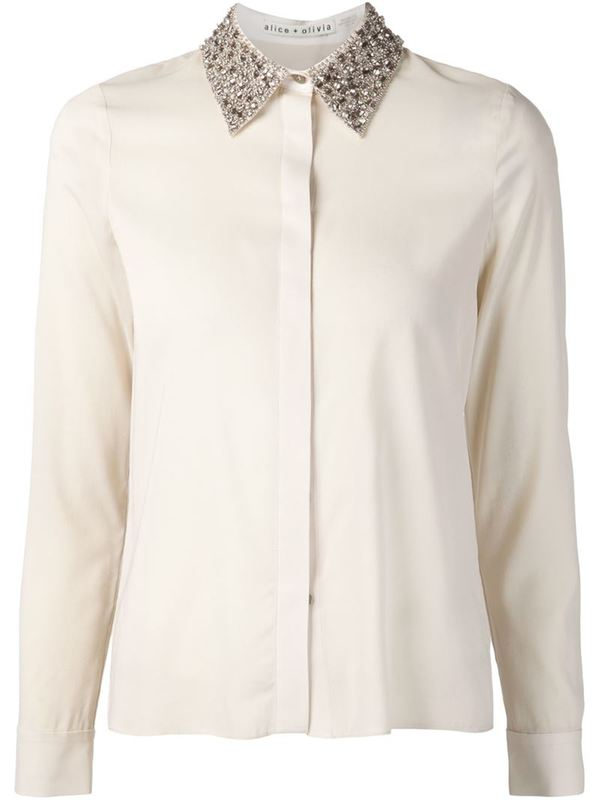 ALICE+OLIVIA embellished collar shirt