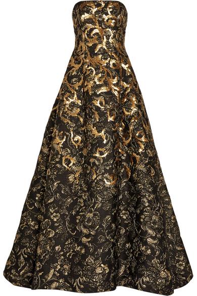 刺绣花卉图案泡泡纱礼服