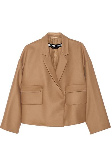 大廓形羊毛混纺外套