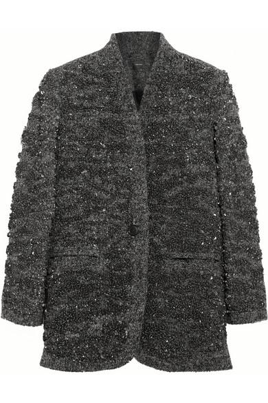 亮片缀饰羊毛混纺外套