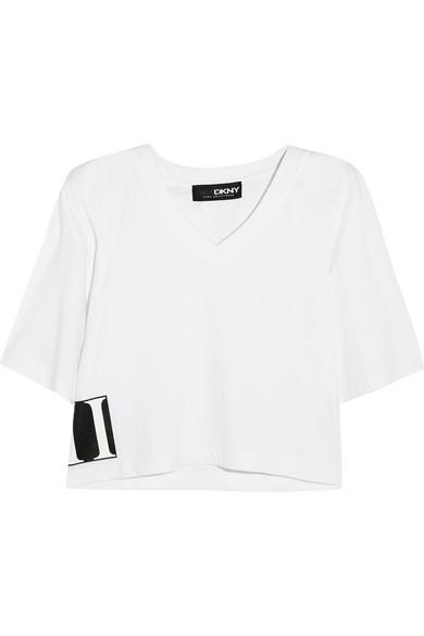 + Cara Delevingne 短款纯棉针织 T 恤
